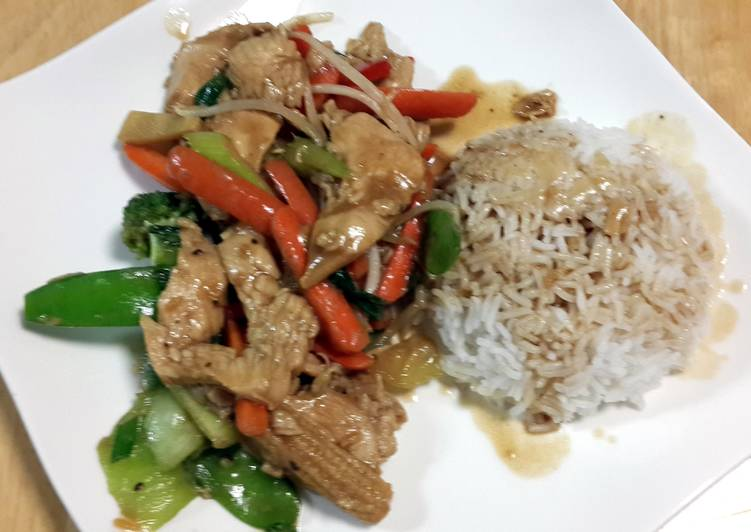 "Stir fry ""mash-up"" (Chicken & Veggies)"