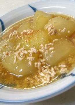 *Winter Melon Chicken Soboro Ankake*