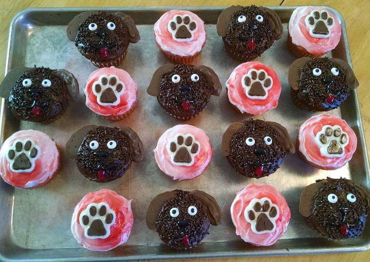 Puppy Theme Cupcakes Recipe By Dwalker1275 Cookpad