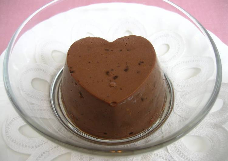 Valentine S Day Chocolate Bavarois Made Simply With Ice Cream Recipe