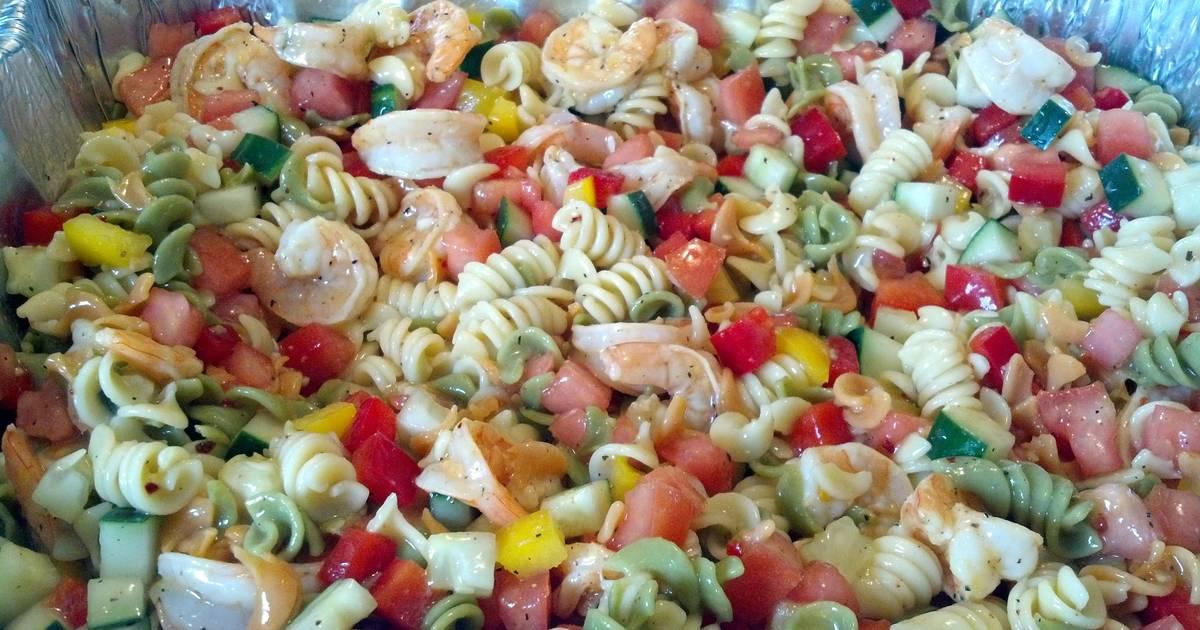 Prawn pasta salad recipes 17 recipes cookpad for Prawn and pasta salad recipes