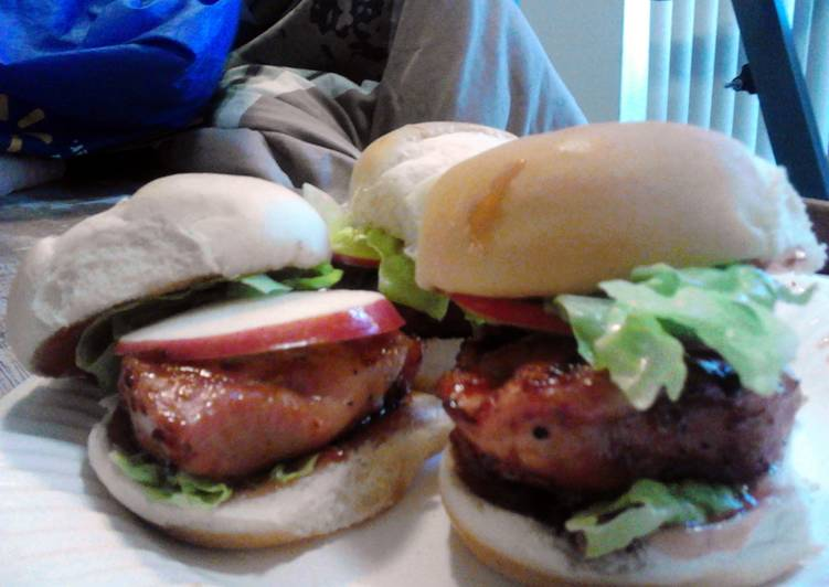 Sweet And Savory Pork Chop Sliders