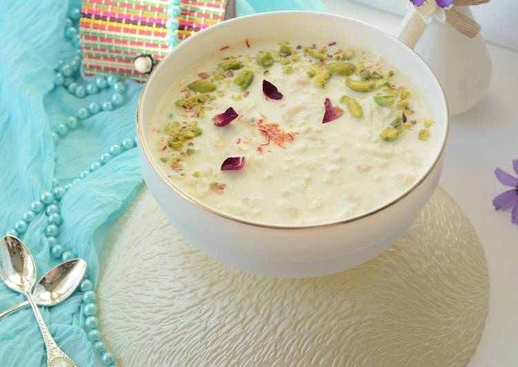 Amazing Paneer Kheer Cottage Cheese Pudding Cooksnap Recipe By Roop Download Free Architecture Designs Intelgarnamadebymaigaardcom