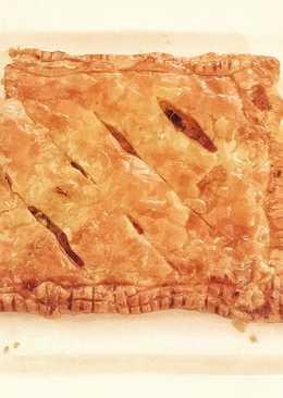 Ham and Cheese Slab Pie