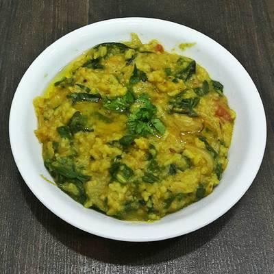Palak Khichadi (Spinach Rice)
