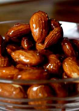 Quick and easy Honey Glazed Almonds