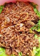 Healthy Minced BBQ Beef Salad