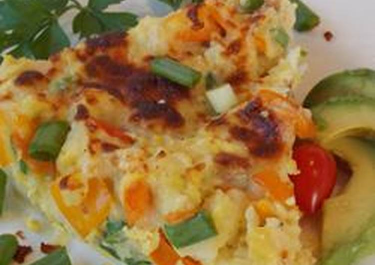 Potato, capsicum frittata
