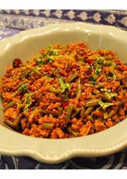 Farash Bean Qeema - Pakistani style Minced Meat & French Beans