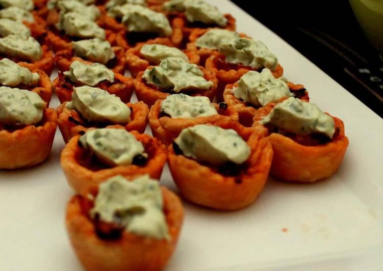 Caramelized Onion Tartlets with Basil Mascarpone