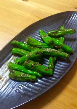 5 minute cooking with Padron Peppers(UK) / Shishito(JP)