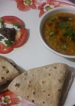 Chana ar lauki ki sabji with Roti simple and tasty