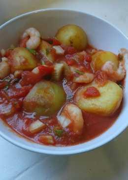 Quick n tasty, Prawn & Potato Stew