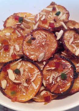 Orange Blast Malpuas with fresh halwa/rabri