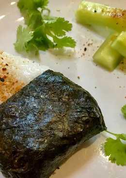 Teriyaki Salmon Onigiri (Japanese Rice Cakes)