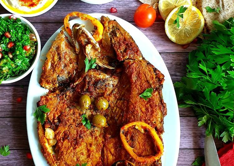 Samak Mashwi (Arabian spiced fish) Recipe by Inish Issac - Cookpad India