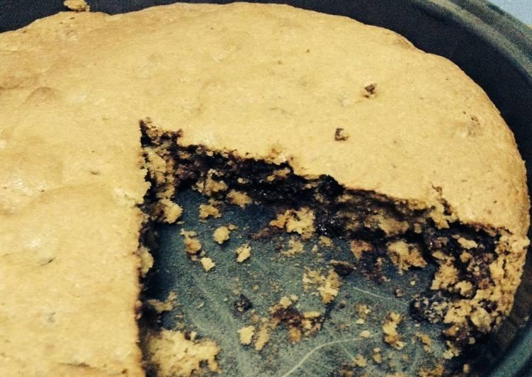 Triple chocolate deep dish cookie