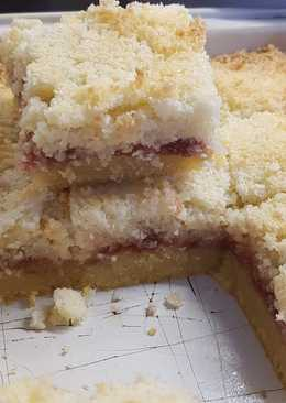 Strawberry and coconut short cake