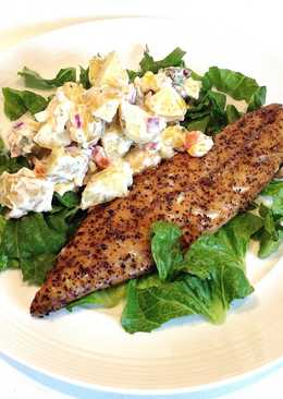 Warm Smoked Mackerel with Potato Salad
