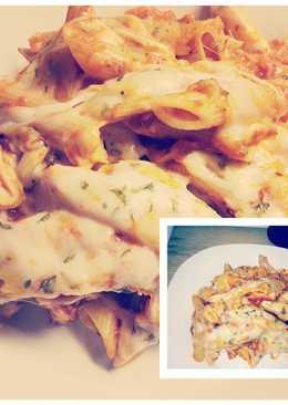 Easy Crockpot chicken Parmesan pasta