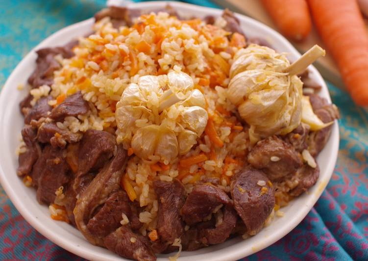 Plov with lamb meat - my version from memory