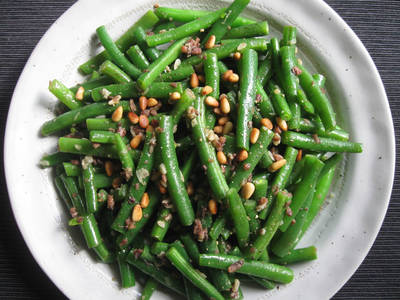 Anchovy Garlic Sautéed Green Beans