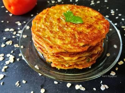 Oats Tomato Pancake