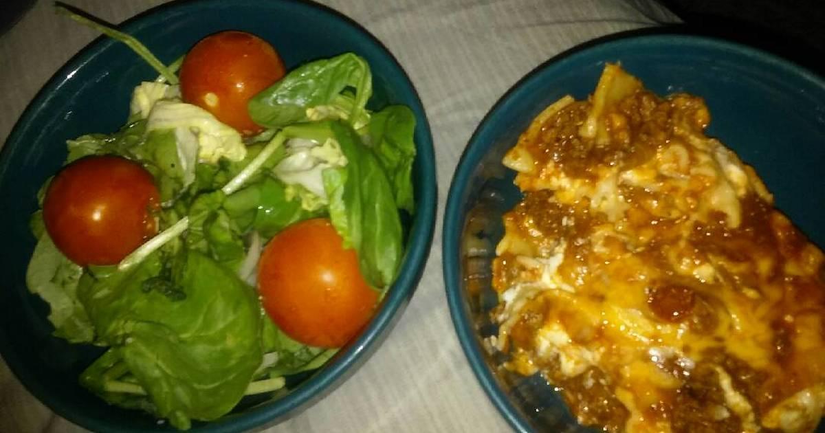 Lasagna Amp Salad Recipe By Yiggi Cookpad