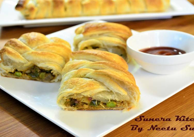 Vegetarian Braided Puff Pastry | By Neetu Suresh