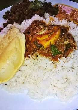 Kerala style eggetarian lunch