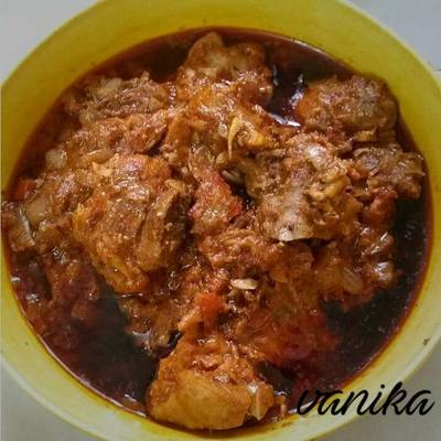 Curd chicken curry