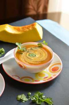 resep masakan pumpkin soup kaddu ka soup