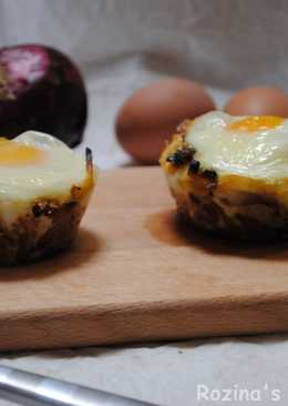 Onion omelette muffins