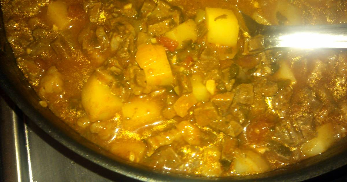 Carne Guisada Con Papas Meat N Potatoes With Gravy Recipe By