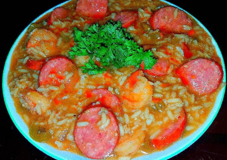 Mikes ez shrimp spicy andouille sausage gumbo recipe by mmobrien mikes ez shrimp spicy andouille sausage gumbo forumfinder Images