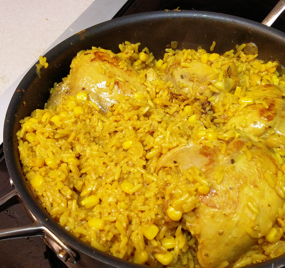 One Pot Brazilian Chicken and Rice