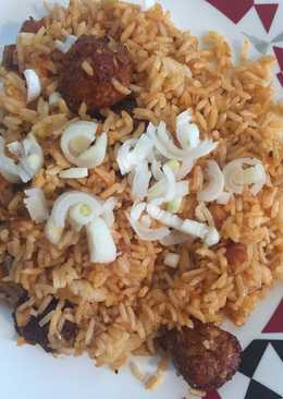 Veg Manchurian Rice(Indo-chinese recipe)