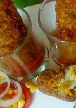 Cheezy Oats Corn Kabab