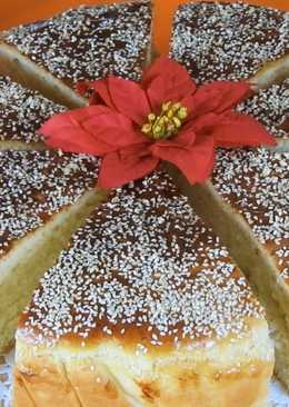 New Year's Day Traditional Tsoureki Bread