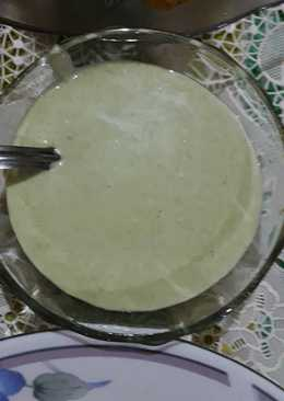 Mint Yoghurt dressing for falafel wraps