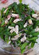 Squid salad with lime n coriander
