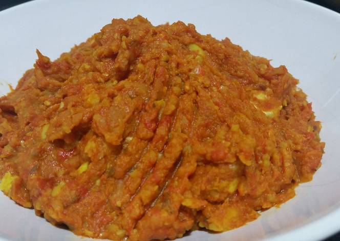 Resep Spicy and crunchy roasted pepper and garlic hummus