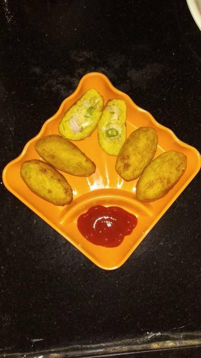 Cheese potato cutlet