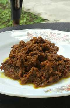 resep masakan rendang beef indonesian food
