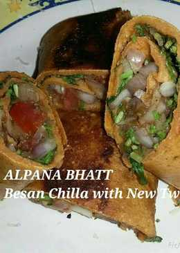 Besan chilla with new twist