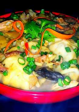 Mike's Steamy Asian Chicken & Dumpling Soup