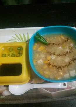Masala paneer corn soup