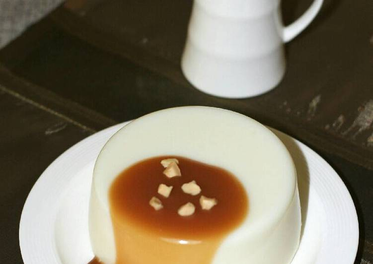 Panna Cotta With Butterscotch Sauce