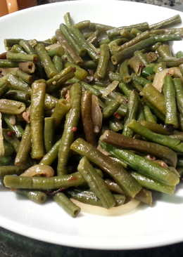 Long Green Beans with Lentils