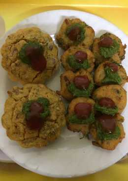Masoor daal kababs and Muffins